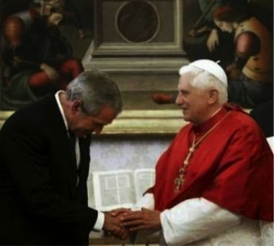 Bush and pope