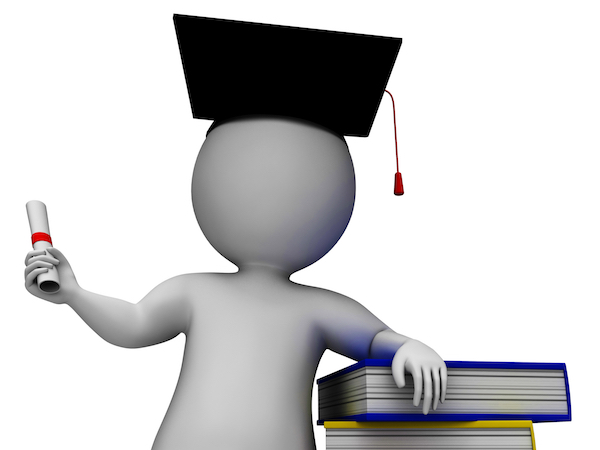 student-with-diploma-shows-graduation z1VYOZD